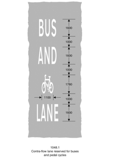 BUS AND CYCLE [cycle-symbol] LANE