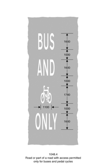 BUS AND CYCLE [cycle-symbol] ONLY
