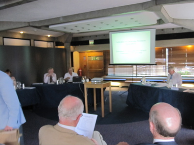 Cambridgeshire Transport Commissioners Brian Briscoe and Tony Travers heard from the police, academics, and city residents at a session on the 25th of June 2009.