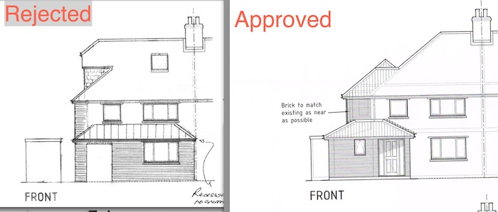 29 Fernlea Close Cambridge CB1 9LW Comparison of Approved and Rejected Plan