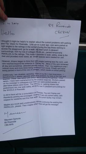 Letter Riverside Cambridge