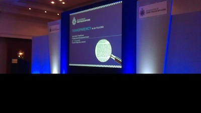 Stage at ACPO Transparency in UK Policing Event June 2013