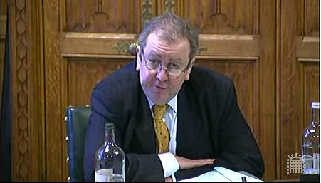 Adrian Sanders MP dismissed websites as 'Tittle Tattle' during a session of the House of Commons' Culture Media and Sport Committee on Tuesday the 8th of December 2009