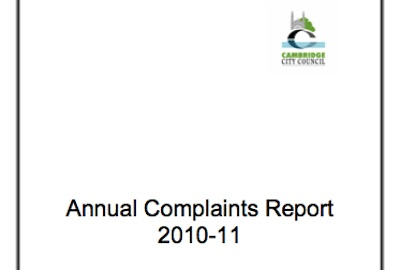Cover of Cambridge City Council Annual Complaints Report 2010-11