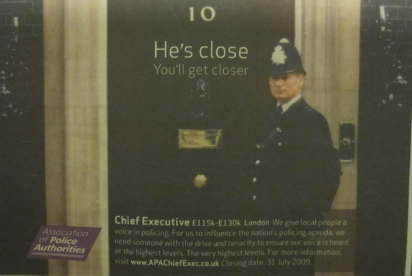 Advert for New Chief Exec of the Association of Police Authorities