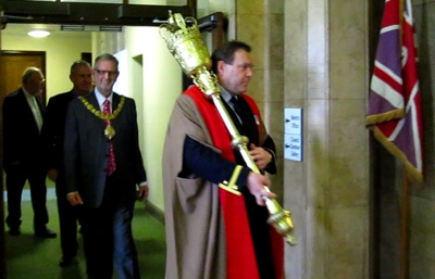 Cambridge's Mayor and Mace Bearer 23rd April 2009