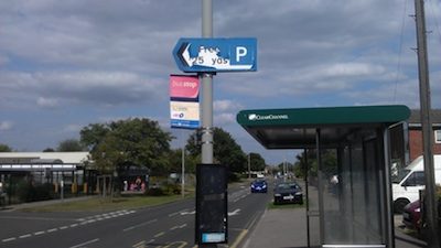 Deteriorated Sign to Campkin Road Car Park