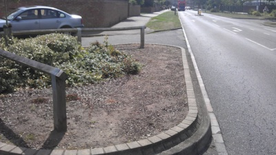 Lack of plants in Campkin Road planter