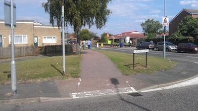 Unmarked Shared Use Cycle Path