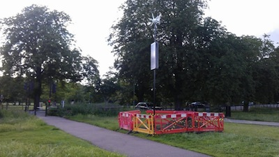 Canrill's Windmill, now in the middle of the common