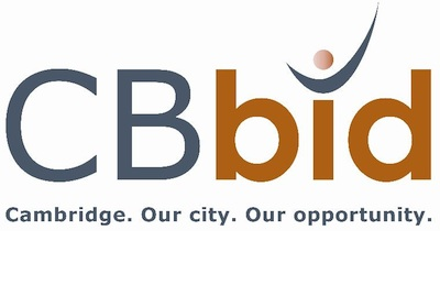 The CBBid Logo and tag line of : Cambridge. Our City. Our Opportunity.