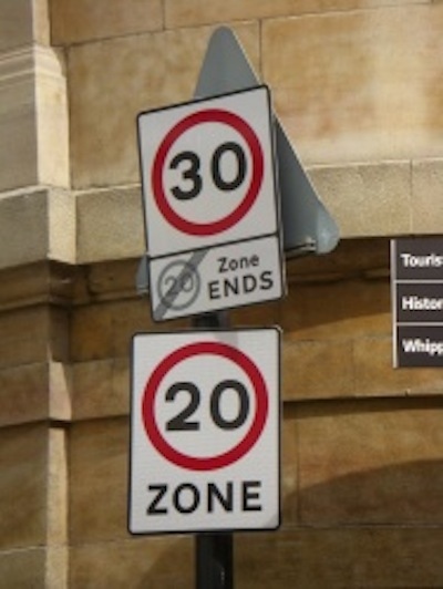 Confusing new speed limit signage in Cambridge