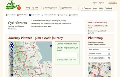CycleStreets offers UK wide Cycle Route Planning