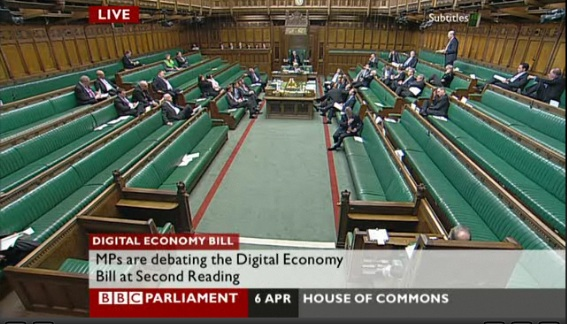 Only one Lib Dem bothers to turn up to debate the Digital Economy Bill in the Commons