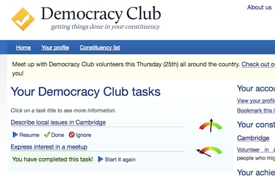 Democracy Club Screenshot - Cambridge