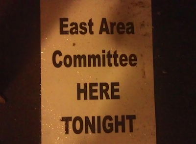 East Area Committee Poster