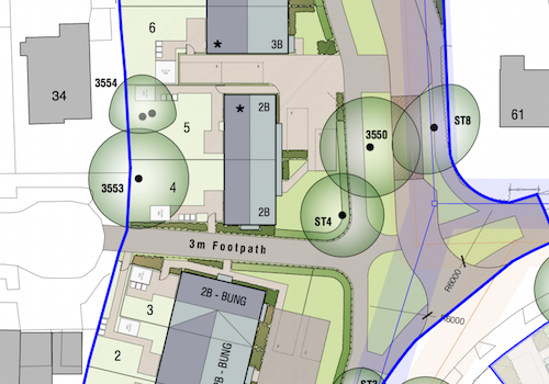 Revised plan for Eastfield, Cambridge
