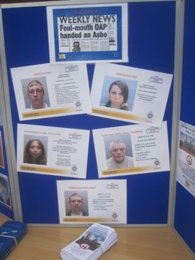 Cambridgeshire Police Ely ASBOs Posters