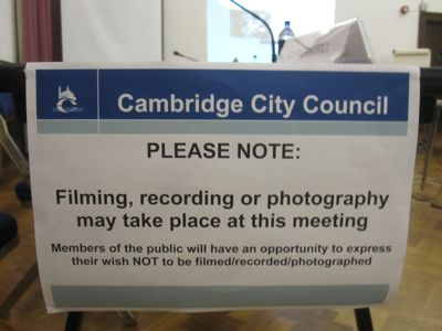 Filming may occur, opt out possible, notice from the meeting