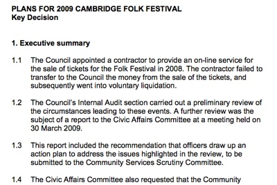 Screenshot of meeting papers for the special community services scrutiny committee