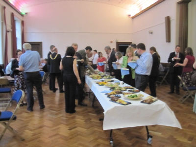 A buffet was provided for councillors and officers during a break in the meeting.