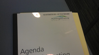 Huntingdonshire District Council Agenda - Marked For information only - do not remove