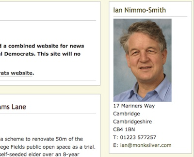 Ian Nimm-Smith's ex. political Website