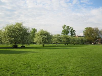 View of Jesus Green, Cambridge.