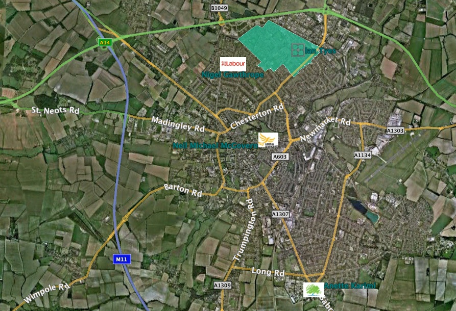 King's Hedges map with candidates addresses