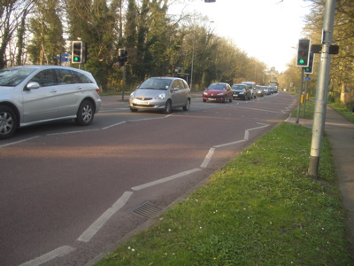 Congestion on Trumpington Road - Leaving the City