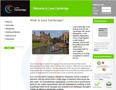 Love Cambridge Website