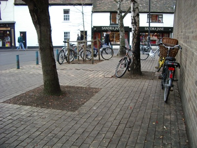 Existing situation - need for cycle parking