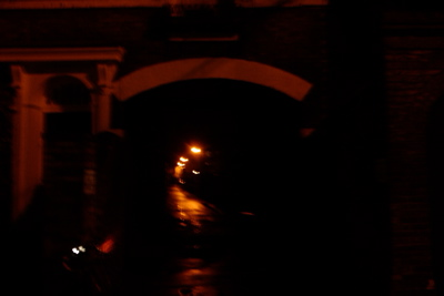 There are council streetlights along the length of Mud Lane, just not under the archway.