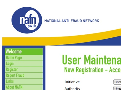 National Anti-Fraud Network website screenshot