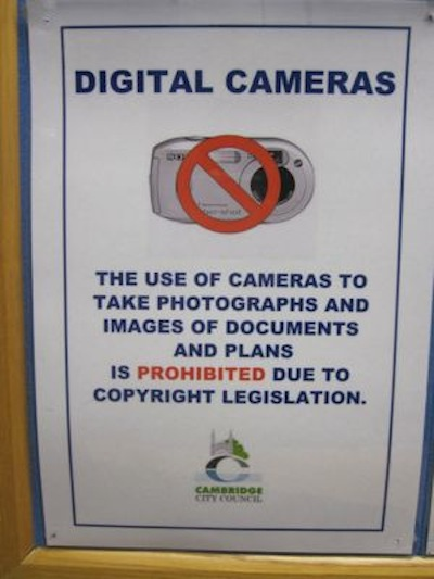 Cambridge City Council currently bans cameras from its planning reception; that attitude is persisting as it moves online.