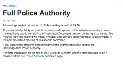 Full Police Authority Meeting 28 June 2012