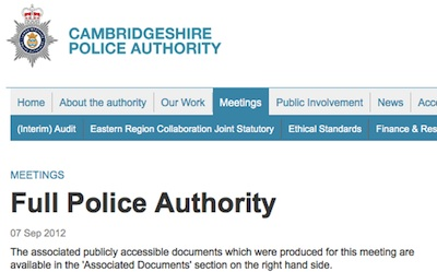 Full Police Authority Meeting September 2012
