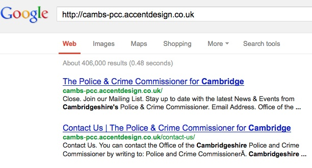 Screenshot of above linked Google search result at time of writing