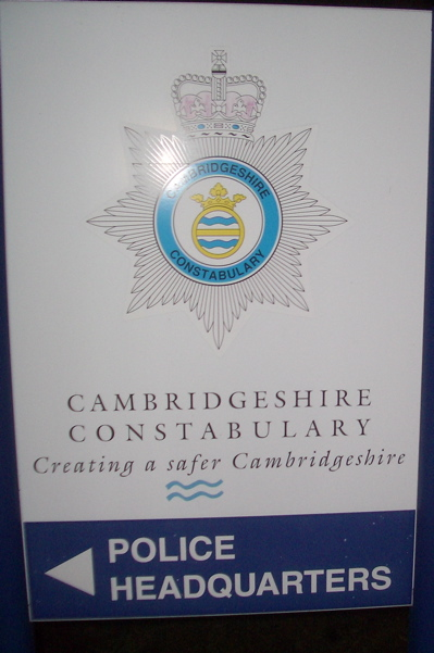 Cambridgeshire Police HQ Sign