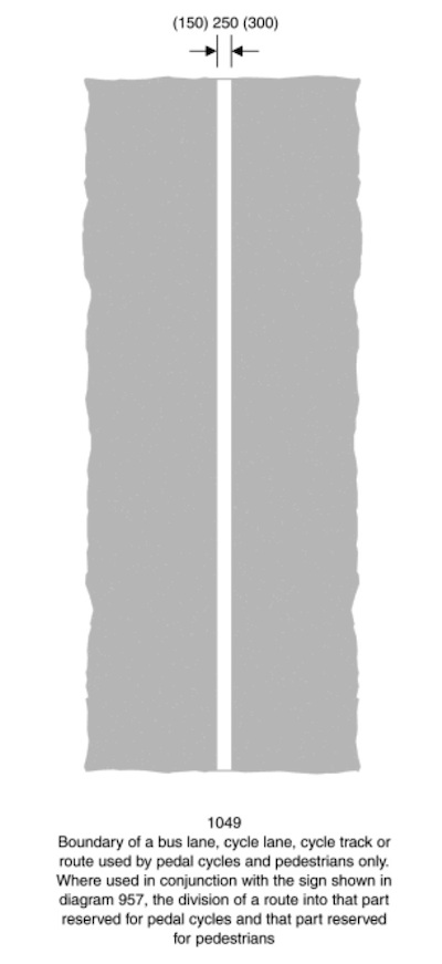 white line number 1049 - a simple solid white line separating lanes on a road