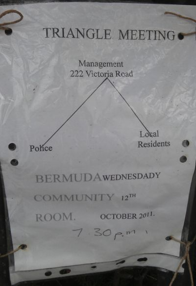 Poster advertising the October 2011 Triangle meeting.
