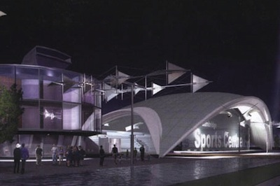 Artist's Impression of how the west Cambridge sports centre could look.