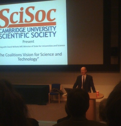 David Willetts MP, Minister of State for Universities and Science, Speaking in Cambridge on the 3rd of March 2011.